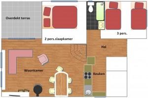 vakantiehuis-plattegrond